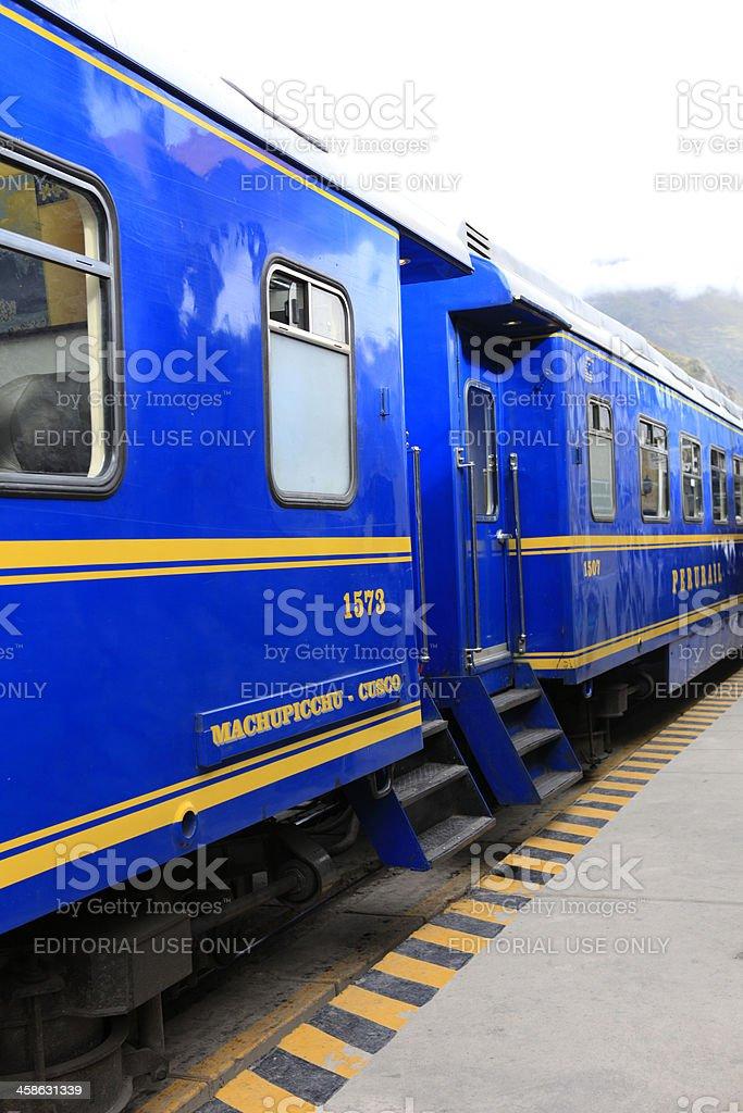 PeruRail Train stock photo