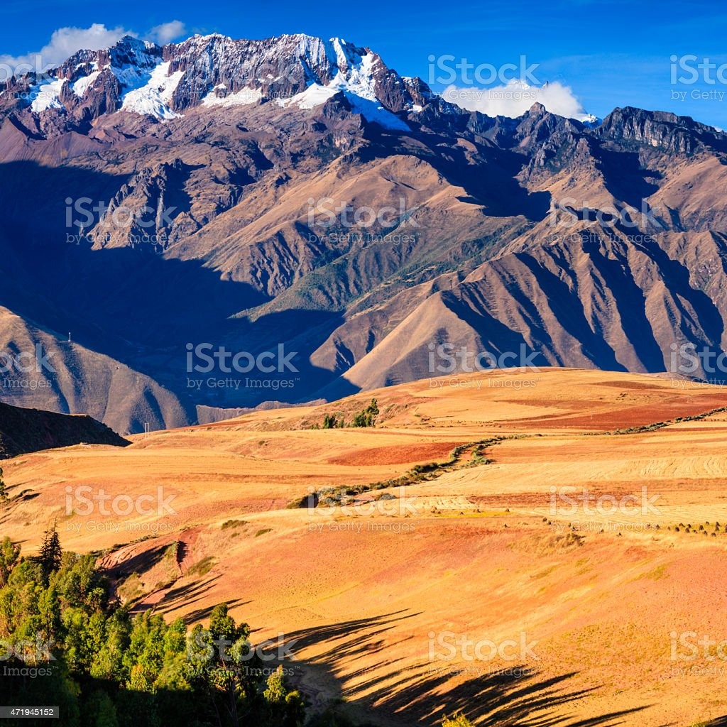 Peruvian altiplano. Andes on the background stock photo