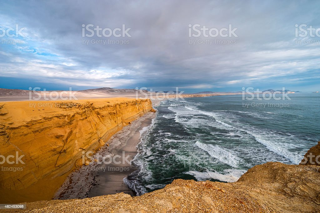 Peruvian Coastline, Paracas National Reserve stock photo