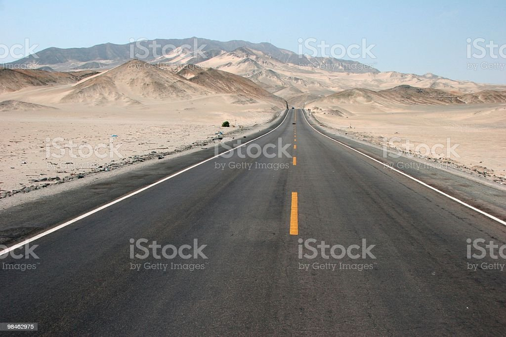 Peruvian Country Road royalty-free stock photo