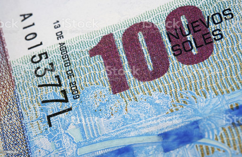 Peruvian Currency stock photo