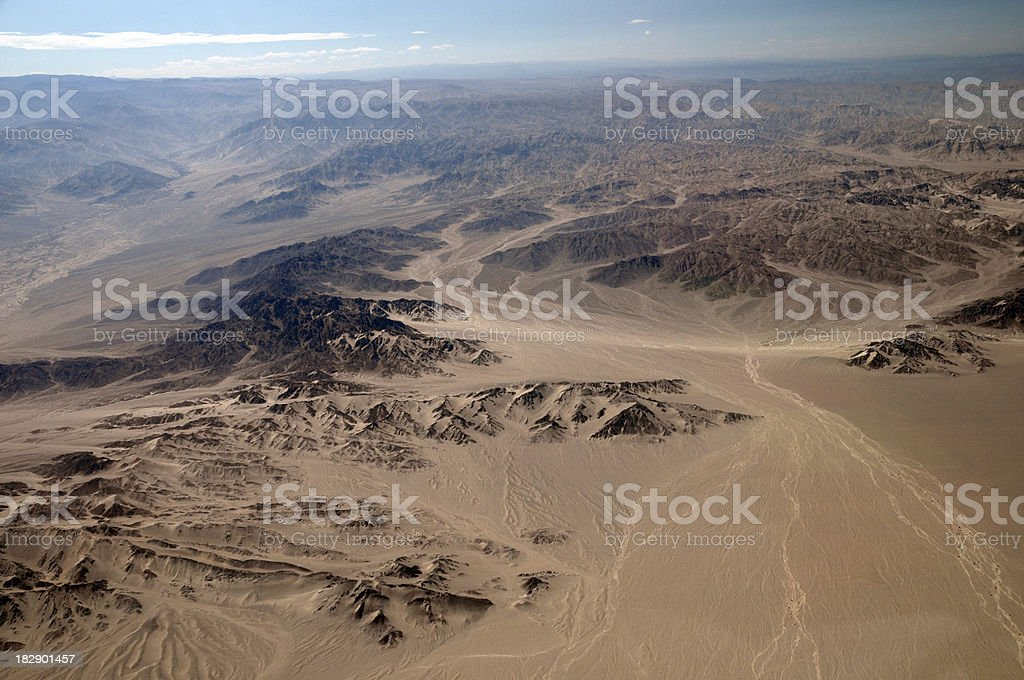Peruvian Desert - Nazca Peru stock photo