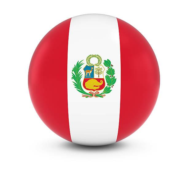 Cтоковое фото Перуанский флаг мяч флаг Перу на изолированных сфере