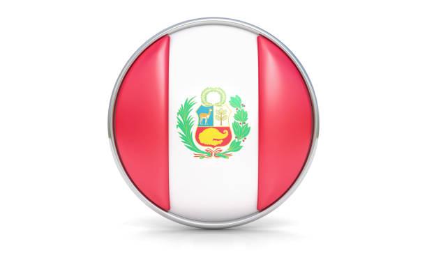 Bandera peruana - foto de stock