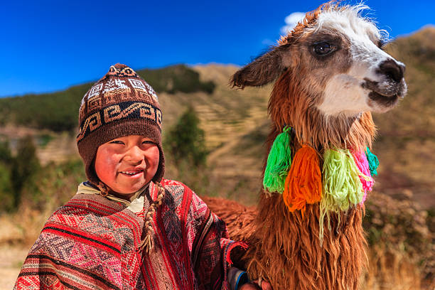 Peruvian little boy wearing national clothing with llama near cuzco picture id472078967?b=1&k=6&m=472078967&s=612x612&w=0&h=g6eoxzxrkcokthck2st7ubpved7igubp6bjnvm1ywro=