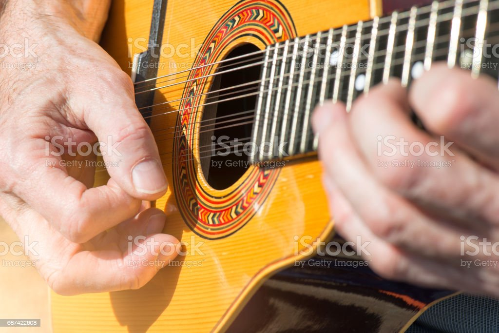 Peruvian Mandolin with 12 strings stock photo