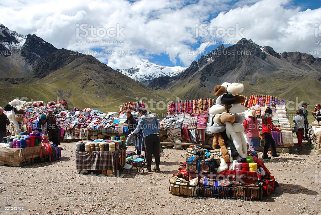Peruvian Market stock photo