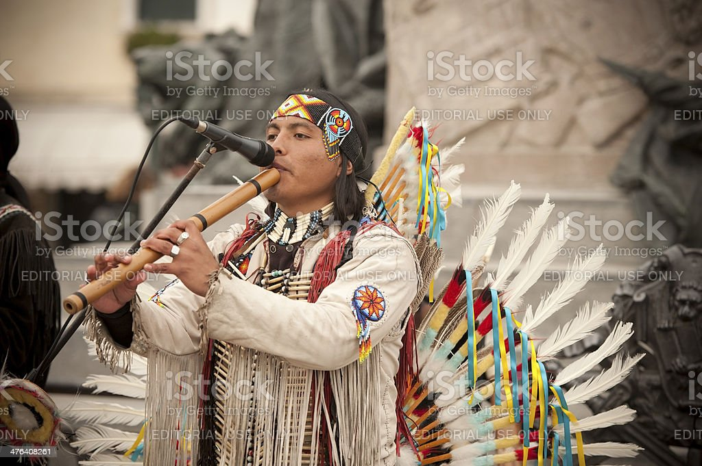 Peruvian Musician royalty-free stock photo