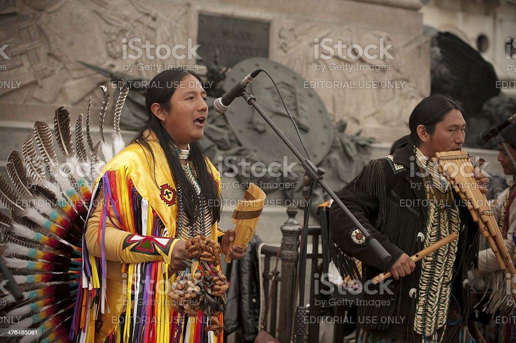 Peruvian Musicians royalty-free stock photo
