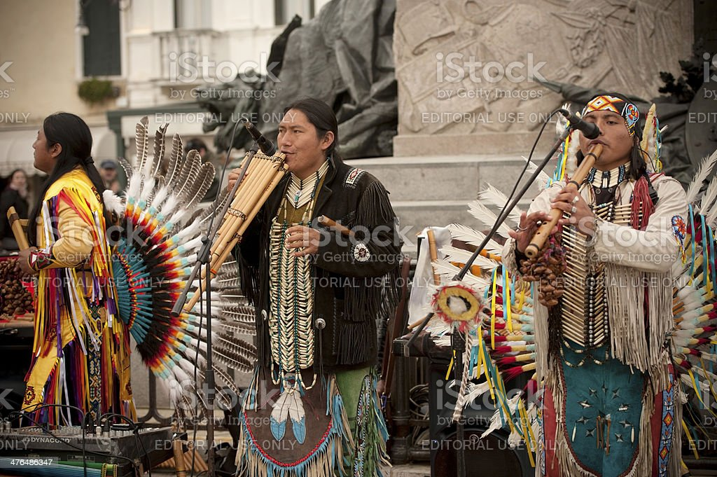 Peruvian Musicians royalty-free stock photo