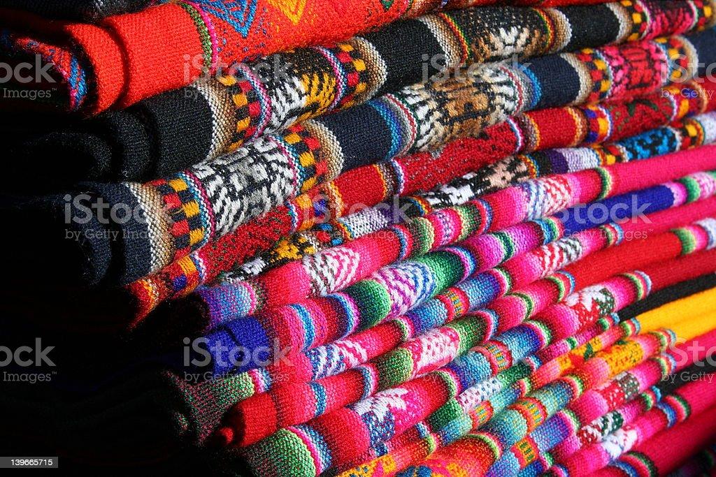 peruvian shawls royalty-free stock photo