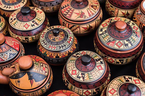 peruano lembrança - cerâmica artesanato - fotografias e filmes do acervo