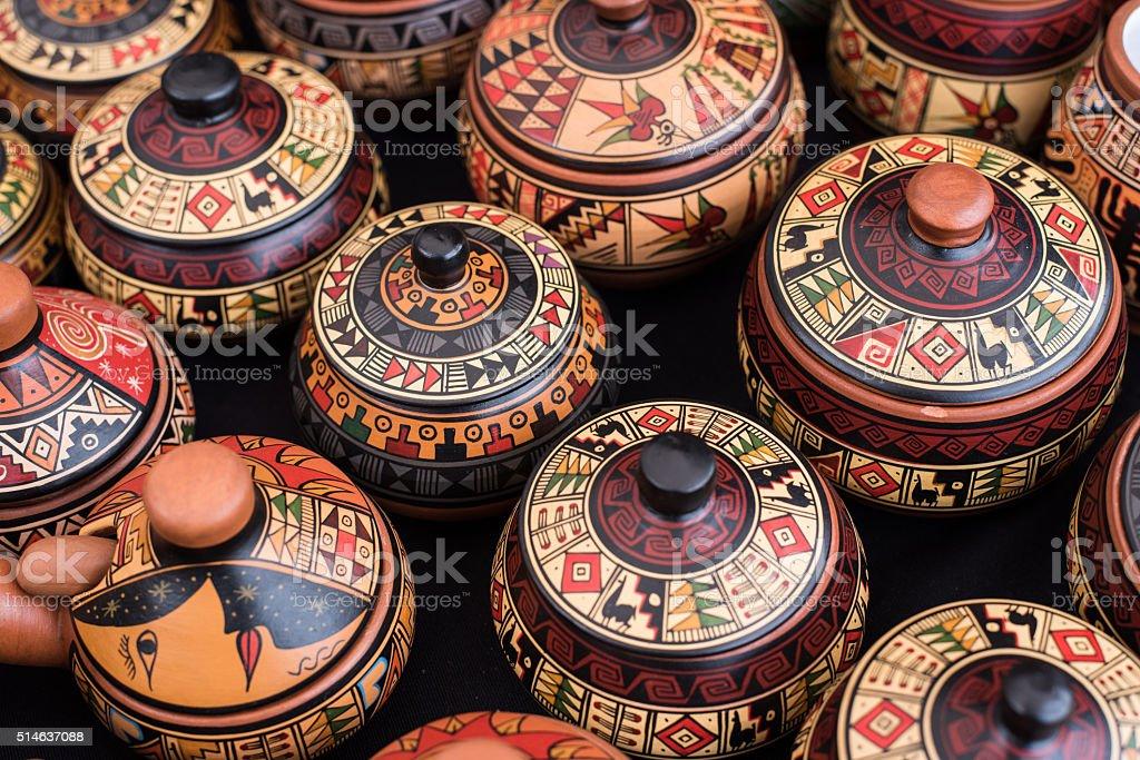 Peruvian souvenir stock photo