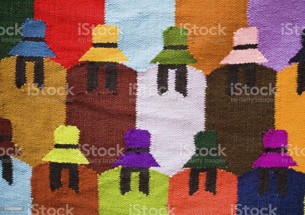 Peruvian Textile royalty-free stock photo