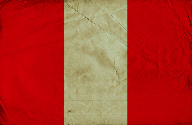 Peruvian vintage Flag stock photo