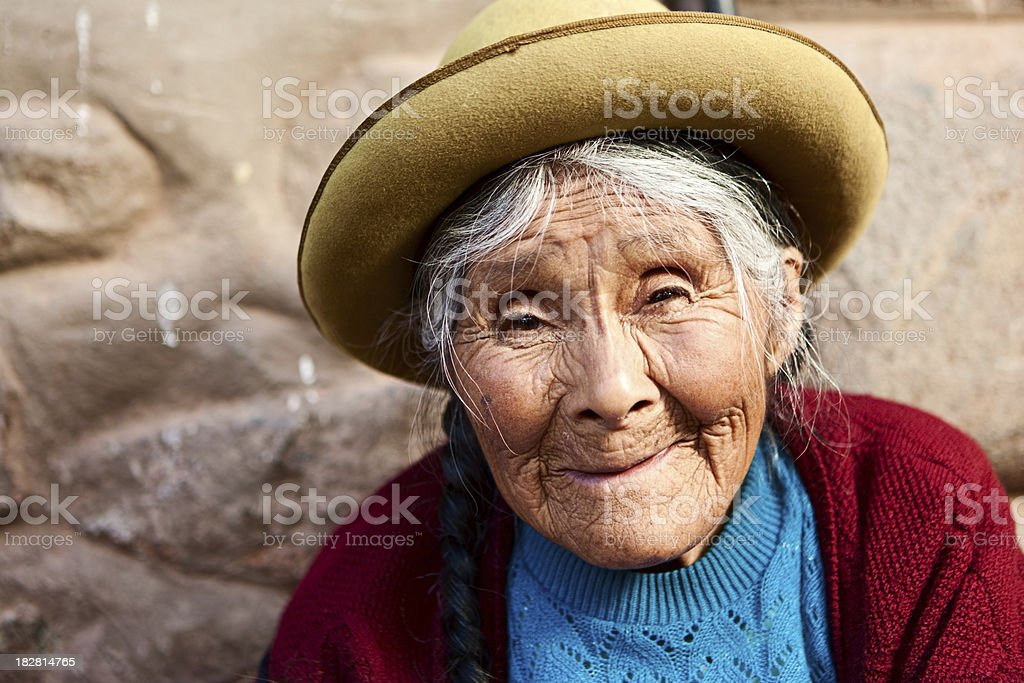 Peruvian woman selling souvenirs, The Sacred Valley, Pisac royalty-free stock photo