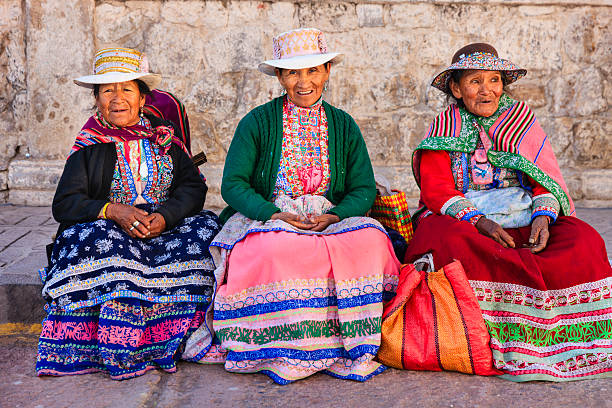 Peruvian women in national clothing, Chivay, Peru Chivay is a town in the Colca valley, capital of the Caylloma province in the Arequipa region, Peru. Located at about 12,000 ft above sea level, it lies upstream of the renowned Colca Canyon. It has a central town square and an active market. Ten kilometers to the east, and 1,500 meters above the town of Chivay lies the Chivay obsidian source. Thermal springs are located 3 km from town, a number of heated pools have been constructed. A stone