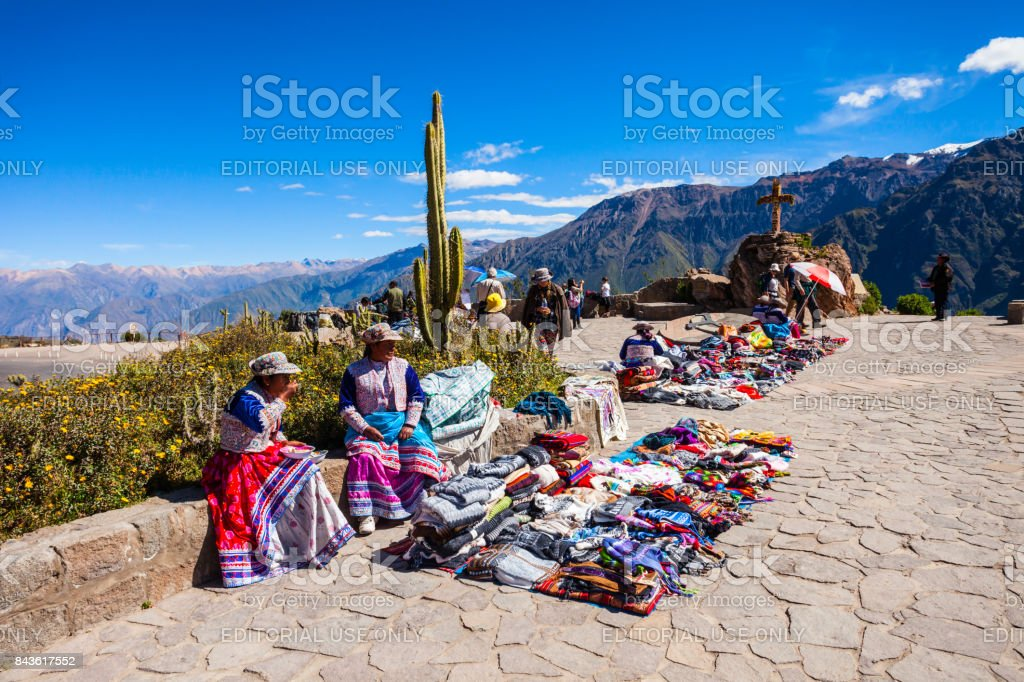 Peruvian women stock photo