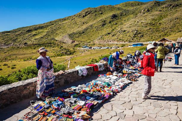 Peruvian women stock photo