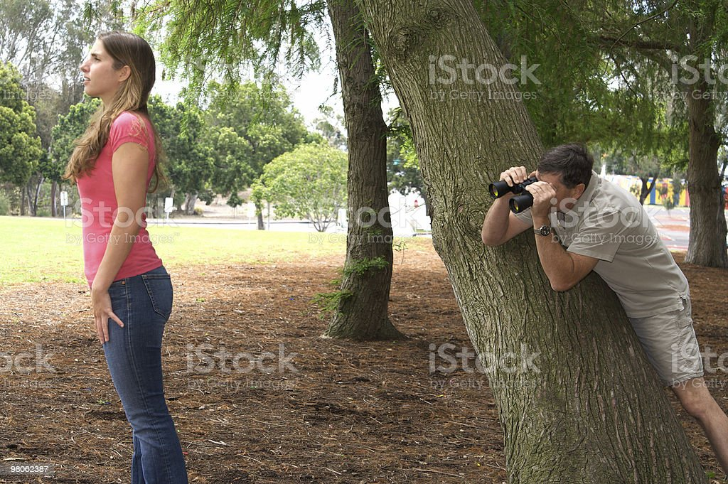 Pervert In the Park -  Series royalty-free stock photo