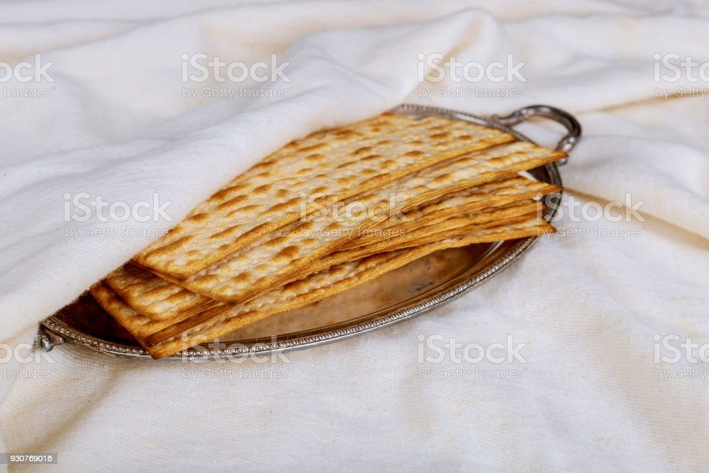 Pesach Passover Symbols Of Great Jewish Holiday Traditional Matzoh