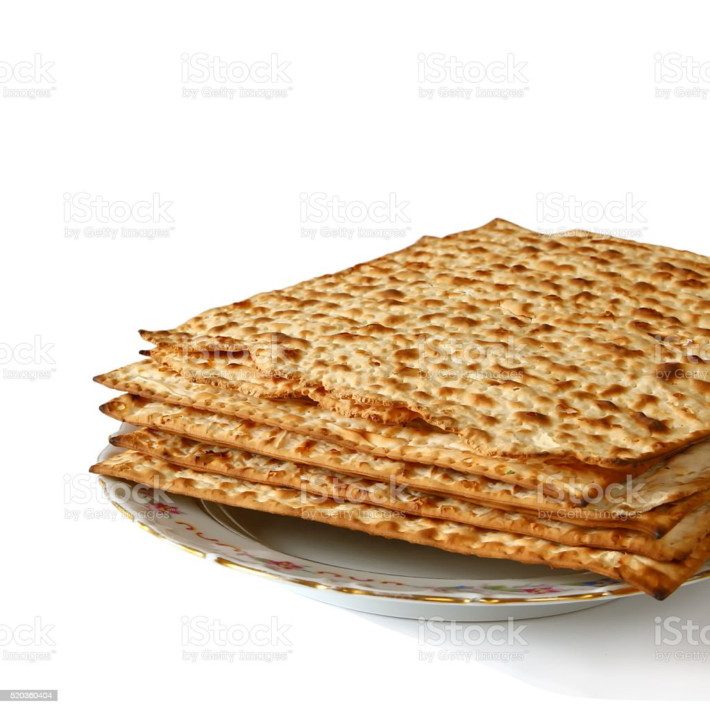 Pesah celebration concept (jewish Passover holiday). isolated on white stock photo