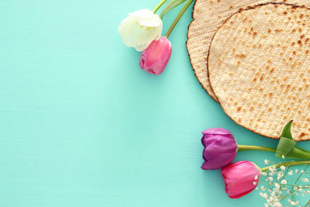 Pesah celebration concept (jewish Passover holiday). – zdjęcie