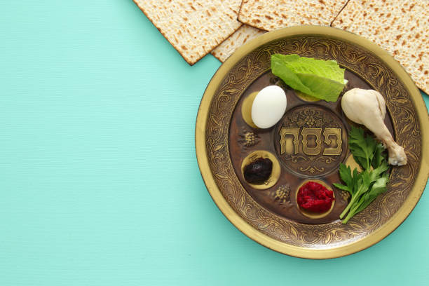 Pesah celebration concept (jewish Passover holiday) – zdjęcie