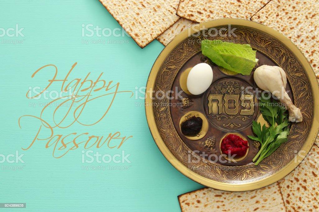 Pesach Feier Konzept (jüdischen Passahfest Feiertage – Foto