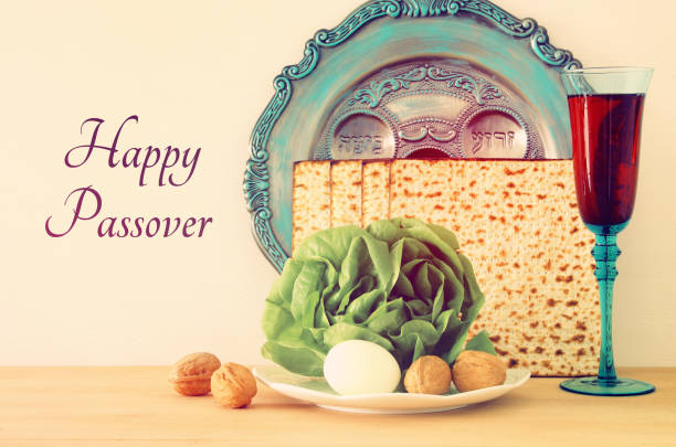 pesah celebration concept (jewish passover holiday). - passover stock photos and pictures