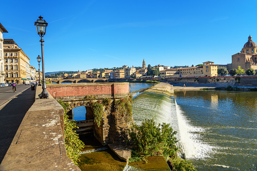 Pescaia di Santa Rosa on Arno river in Florence. Italy