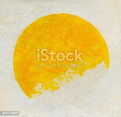 istock Pescara orange broken circle background 825176932