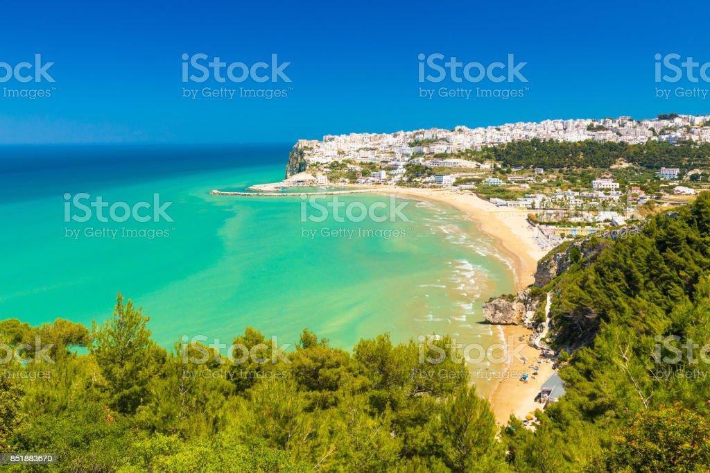 Peschici, Apulia south Italy stock photo