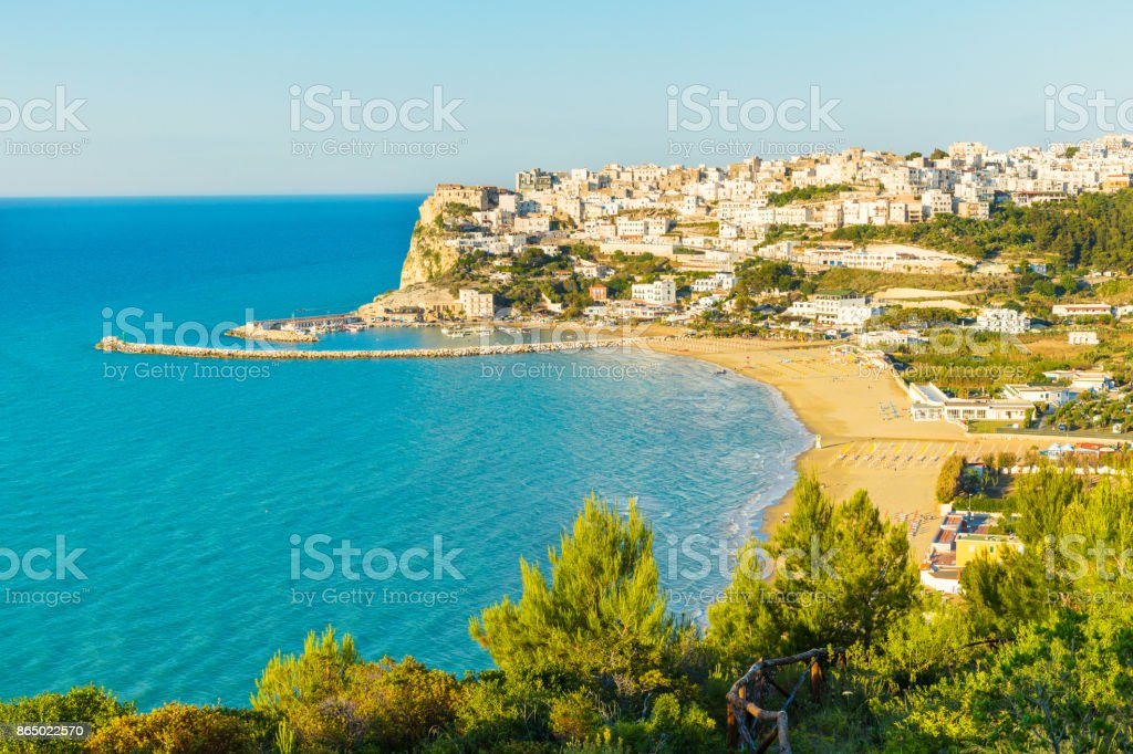 Peschici,Apulia south Italy stock photo