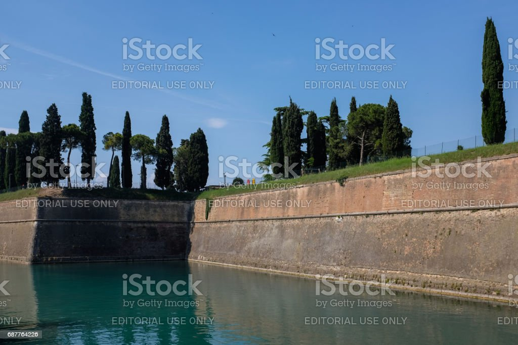 Peschiera del Garda, ancient fortification,2 stock photo