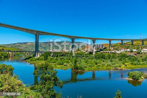 Peso da Regua town at the douro valley in Portugal