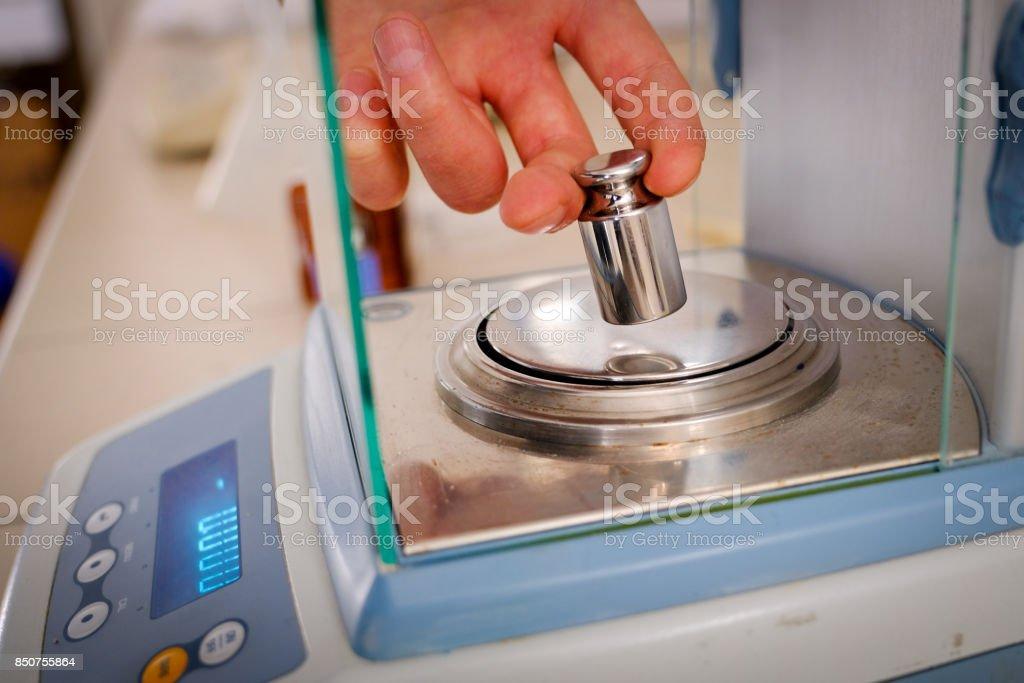 Peso per taratura stock photo