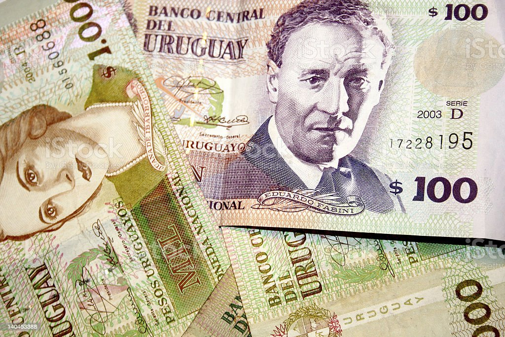 Peso - Uruguay stock photo