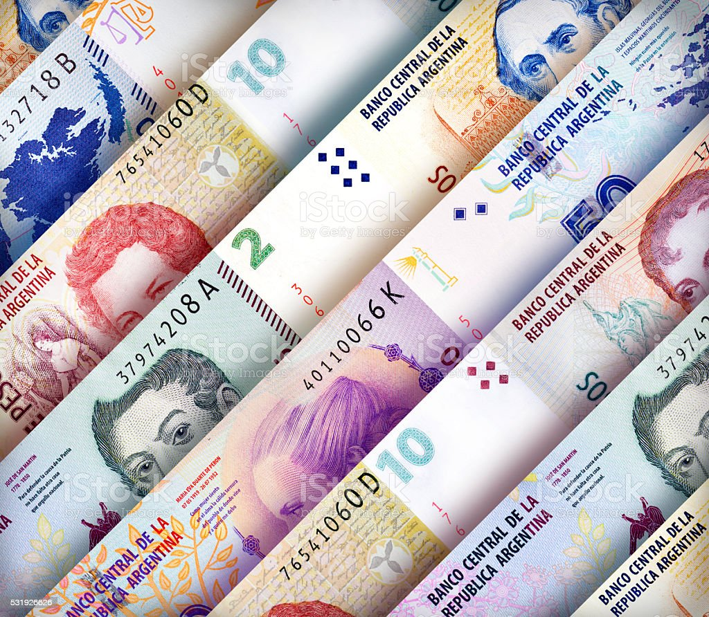 Peso Wall Background stock photo