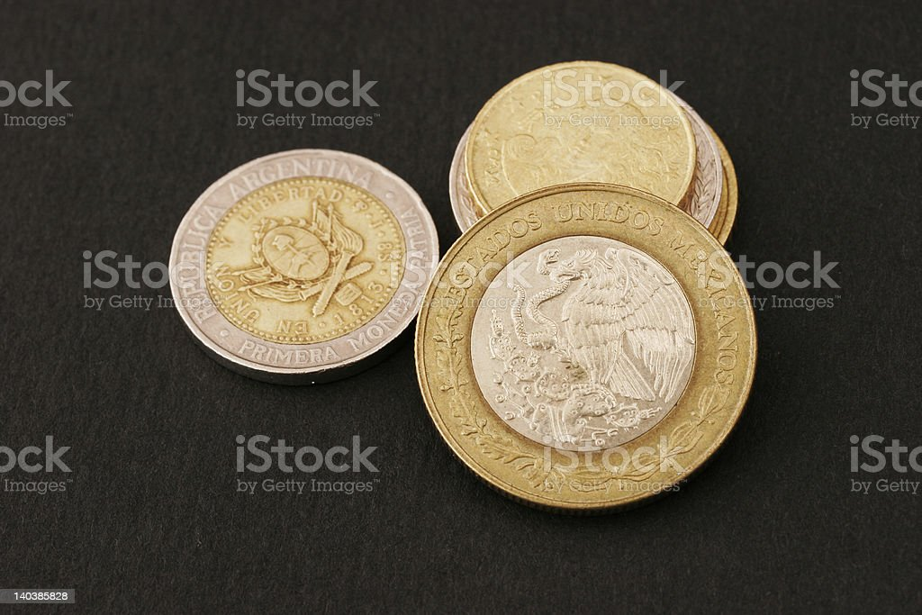 Pesos from Argentina royalty-free stock photo