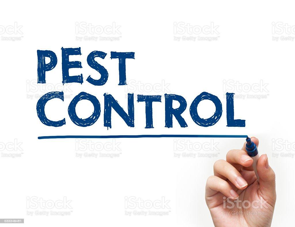 Pest control felt tip pen concept (Click for more) stock photo