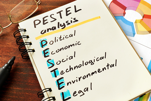 Pestel Analysis Stock Photo - Download Image Now