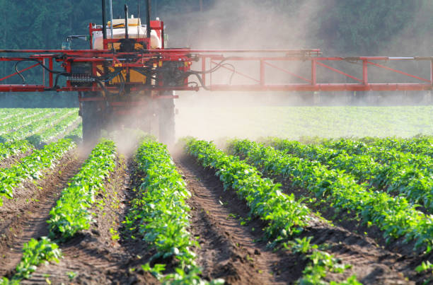 pesticide tractor spraying pesticides herbicide stock pictures, royalty-free photos & images