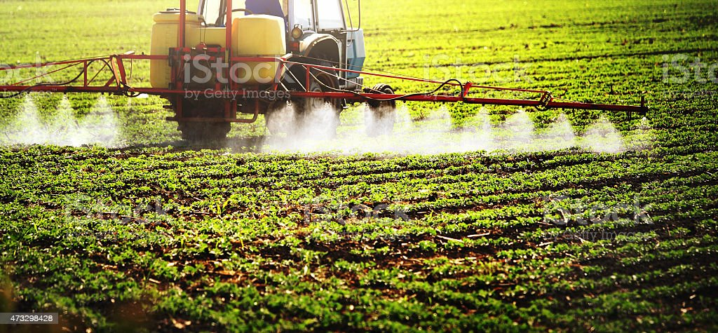 Pesticide treatment. stock photo