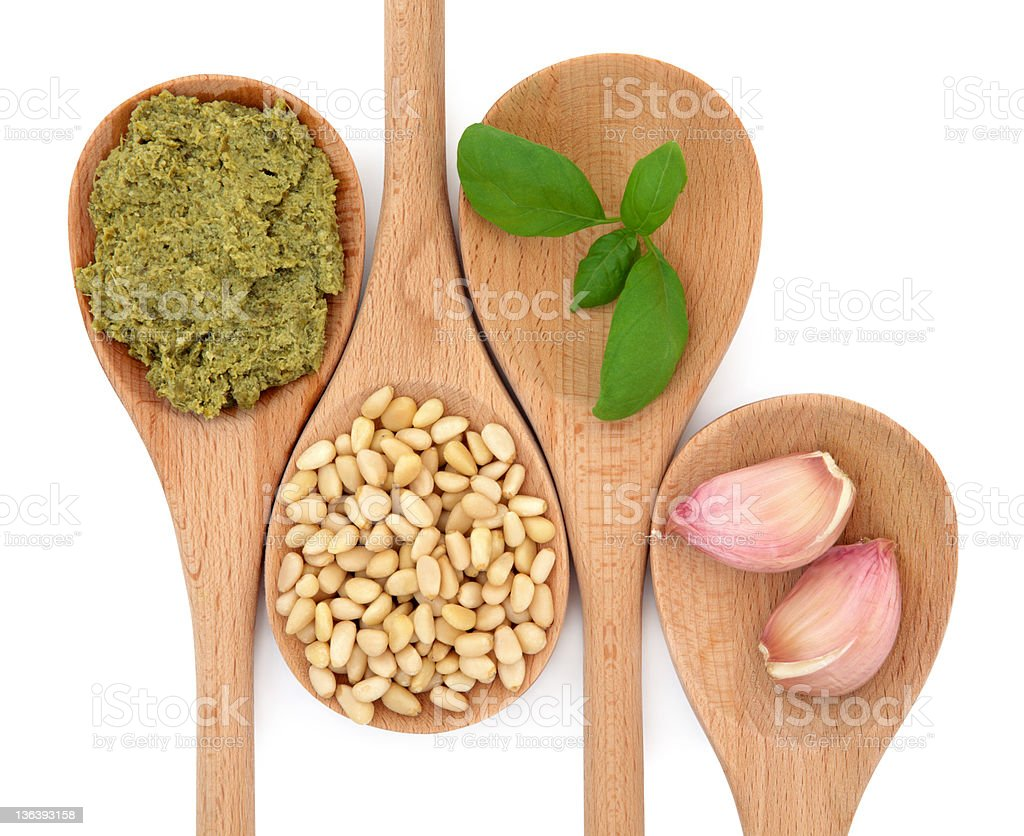 Pesto and Ingredients royalty-free stock photo