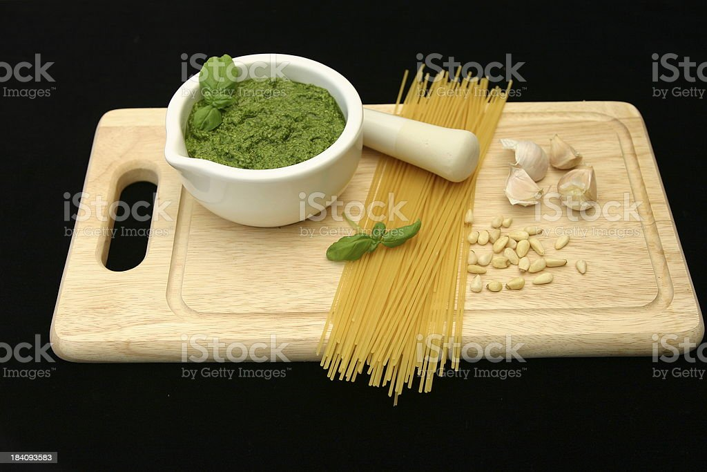 Pesto composition royalty-free stock photo
