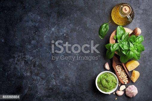 istock Pesto sauce ingredients 833365654