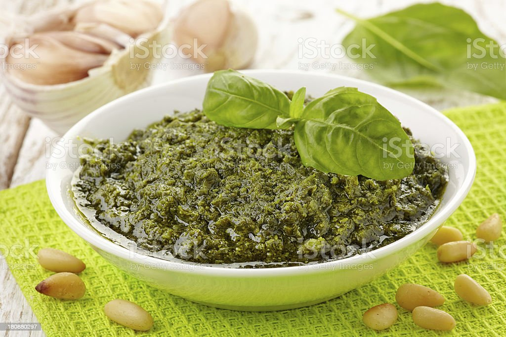 Pesto sauce royalty-free stock photo