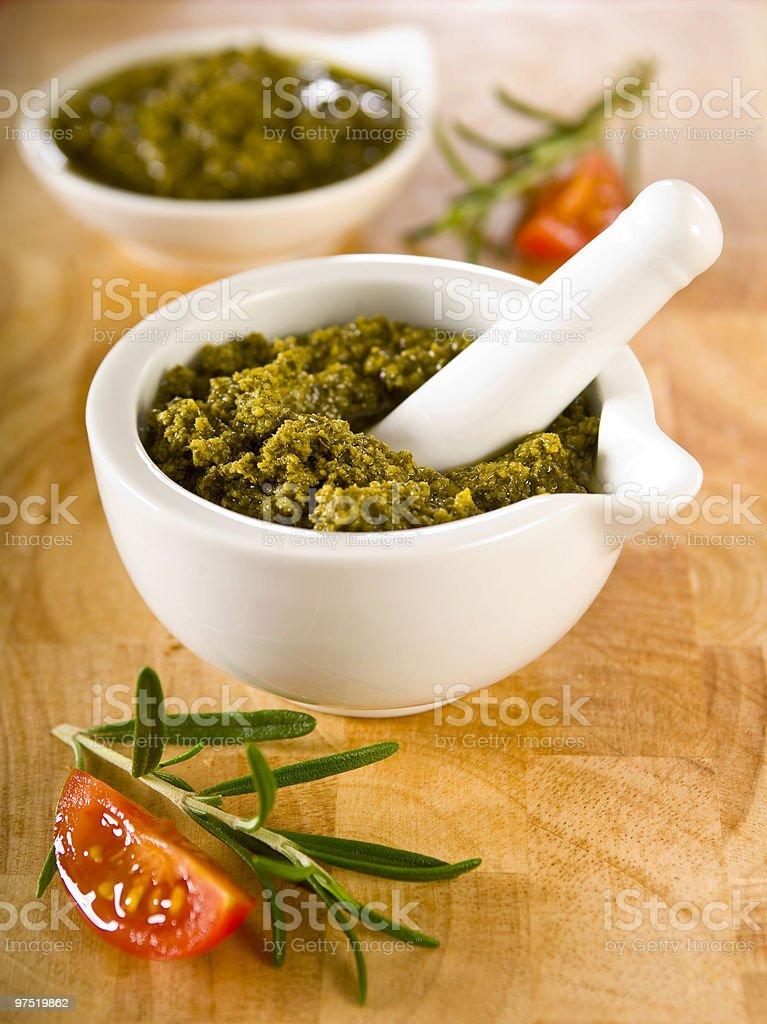 pesto sauce royalty-free stock photo