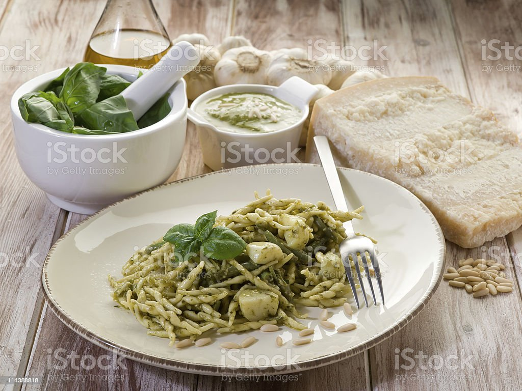 pesto trofie typische Genua recipe – Foto